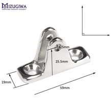 "Mizugiwa 316 SS Bimini Top Stainless Steel Deck Hinge with Pin Top 90 deg Quick Deck Hinge with Removable Pin 3/4"" x 2-1/3"""