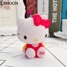 EX-MOON Cute Hello Kitty Cartoon Doll Pendant Key chains For Women Car bag Mobile Phone Pendant Keychains key Holder Jewelry