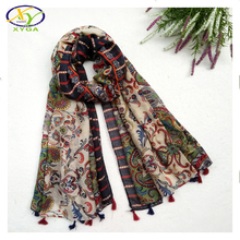1PC180*100cm 2016 Fall New Design Flower Printed Fashion Acrylic Cotton Women Long Scarf Woman New Viscose Pashminas Shaw