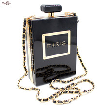 Moccen Luxury Acrylic Evening Handbag Perfume Bottle Clutch Bags Designer Showtime Hand Bag Famous Brand