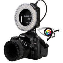 Original Brand Aputure AHL-HN100 CRI 95 + LED Macro Ring Flash Light for Nikon DSLR Camera Dropshipping