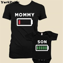 Summer Family Matching Clothes Matching Mother Daughter Clothes Mother Son Outfits Short Sleeve Print Batter T-shirt Baby Romper(China)