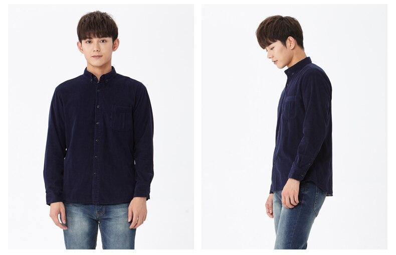 corduroy wine shirt navy blue 02