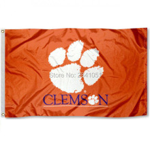 3 Color Clemson Tigers 2015 House Allegiance Team American Outdoor Indoor Football College Flag 3X5 Custom USA Any Hockey Flag