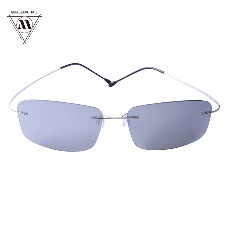 Arial&amp;Michael Trendy Anti-Glare Rectangle Sunglasses men HD Polarized Grey Nylon Lens Titanium Bridge Sun glasses 8210<br><br>Aliexpress
