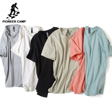Pioneer Camp brand clothing Solid men t shirt casual personality o-neck T-shirt male Top quality bamboo cotton stretch Tshirt(China)