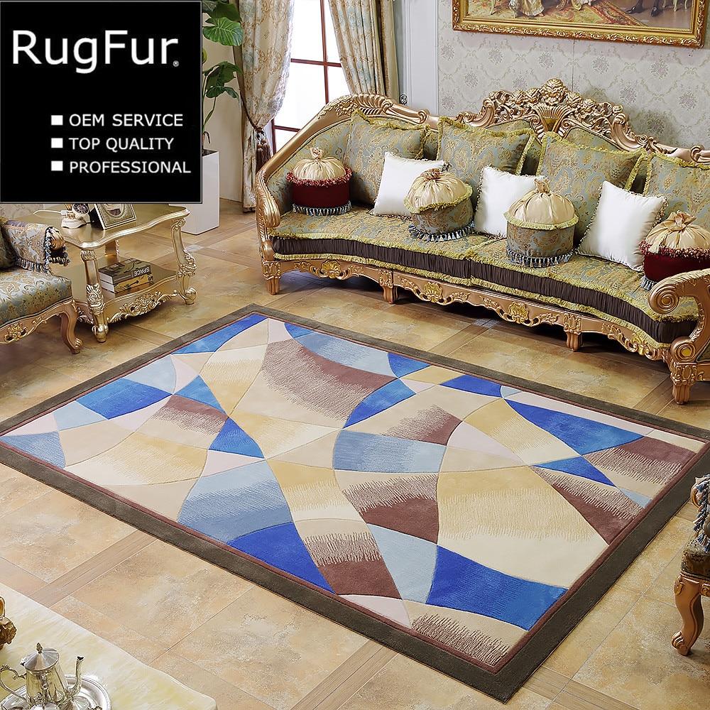 Custom New Zealand Imported 100 Pure Wool Carpet Living Room Sofa Coffee Table