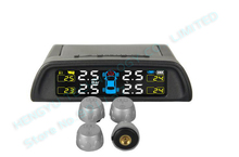 TPMS car tire pressure monitoring system LCD display 4 external sensors auto alarm system solar energy diagnostic tool HY-810(China)