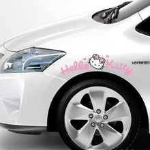 Newest Design Cute Car Sticker Hello Kitty Wheel eyebrow Sticker And Decal For Golf 7 Golf 5 Mazda Smart Opel Fiesta Focus Cruze