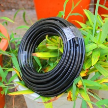 20M  4/7 MM Black Micro Irrigation Pipe Water Hose Drip Watering Sprinkling Home Garden Greenhouse for Drip Arrow New