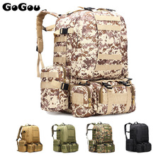 Unisex Detachable Outdoor MOLLE Webbings Tactical Backpack Large Capacity Climbing Hiking Travel Bag Army Back Pack 5Colors