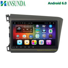 HD 1024*600 9inch android 6.0 car dvd player for honda civic 2012-2015 with radio DAB+ BT can bus 3g/4g/wifi GPS mirror link
