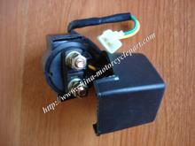 2-wire Starter Solenoid Starter Relay with rubber sleeve for 4 stroke Scooter Moped ATV GY6 50 125 150 cc 139QMB 152QMI 157QMJ