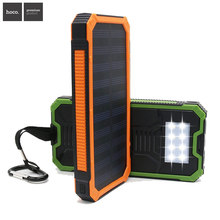 Home Travel Solar Power Bank Waterproof Powerbank Portable LED Lamp Cellphone Charger Universal Dual USB Ports Sun Charger