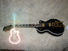 Wholesale and retail Custom Shop Black Electric Guitar WITH Bigsby Guitar Free Shipping(China)
