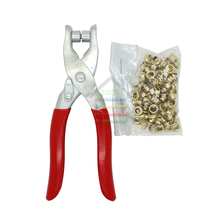 New DIY Grommet Eyelet Pliers Shoes Eyes Clamp With about 100 Eyelets For Fabric,Paper,Bags(China)