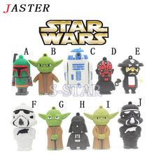JASTER Star Wars Darth Vader Yoda R2D2 USB flash drive pendrive pen drive 4gb 8gb 16gb 32gb U disk Memory stick key USB Gift