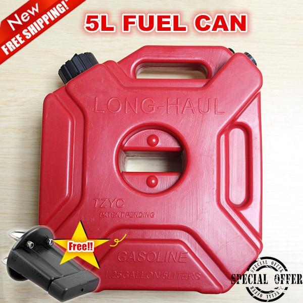 5litre Fuel Tank Jerry Cans Spare Plastic Petrol T...