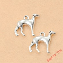 Buy 10pcs Vintage Dog Charms Pendants Jewelry Making Tibetan Silver Plated Diy Handmade Craft Charms 18x21mm for $1.49 in AliExpress store