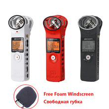 Portable Zoom H1 Wireless Microphone Handy Digital Recorder Stereo Recording Handheld Pen for Interview DSLR (Windscreen+Card)(China)