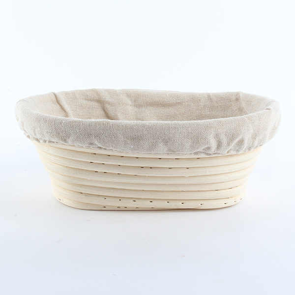 Economic Durable Banneton Brotform Bread Proofing Rising Proving Oval Rattan Basket 1PCS Newest