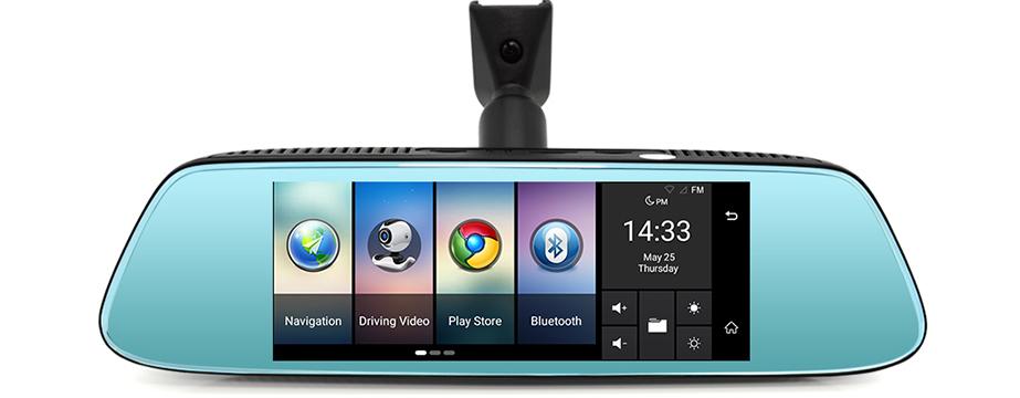 "Junsun 8"" 4G Special Mirror Car DVR Camera Android 5.1 with GPS DVRs Automobile Video Recorder Rearview Mirror Camera Dash Cam 59"
