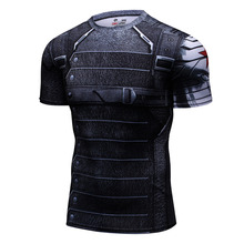 Brand Clothing 2017 Superhero Compression Shirt Civil War Winter Soldiers 3D Printed t shirts Bodybuilding Crossfit t-shirt(China)