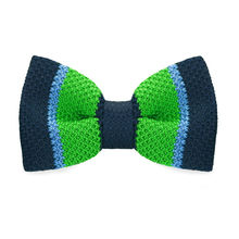 LF-332 New Arrival Knitted Crochet Men`s Bowties Adjustable Green & Blue Novelty Pattern For Men Party Bussiness Free Shopping(China)