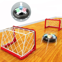 Factory sales LED Light Flashing Hovering Air Power Soccer Ball Football Toys Disc Gliding Game Toy Kid Chidren drop ship(China)
