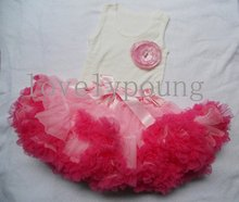 FREE SHIPPING girls clothing set( top+ skirt),toddler girls tutu pettiskirts dresses up