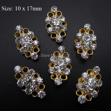 10pcs 3d nail designs cover fingernails nail jewelry gold nail ongle AM40