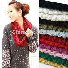 Women Knitted Hood Neck Circle Cowl Wool Scarf Shawl Wrap Loop Winter Warmer New