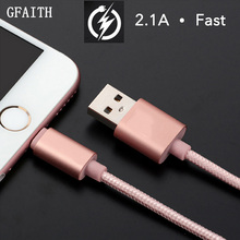 2016 New Nylon Braid USB Charging Cable For iPhone 6 6s plus USB Cable Charger for iPhone 5s 5 iPad 4 mini Power Cord 8 Pin Wire