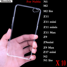 10 Pcs For ZTE Nubia N1 N2 M2 Lite Z11 mini minis Z9 Max Z17 mini Ultrathin Transparent Clear TPU Soft Silicon Cover back Case(China)