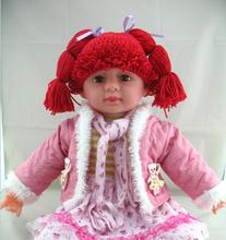 free shipping, Girl Wig Hat , 100% Handmade Crochet Baby Girls Wigs Cabbage Patch Hat, Newborn Beanie caps Photographic prop