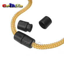 50pcs Pack Black Plastic Buckles Breakaway Safety Pop Barrel Connector Clasp Necklace Paracord&Ribbon Lanyards#FLC090-B
