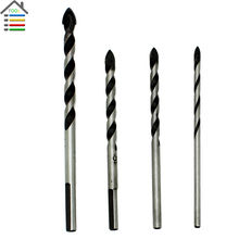 AUTOTOOLHOME 4 pcs Glass Ceramic Tile Drill Bits Set 3 4 5 6mm Porcelain Spear Head Marble Wall Triangle Core Drilling