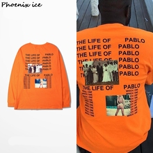 The American street The life of Pablo photo orange men and women long sleeve render kanye west