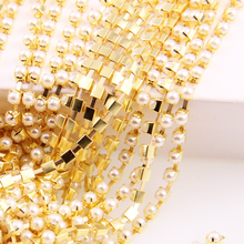 Buy New Ivory Pearl Claw Sew Close/Sparse Chain Bead Trim Strass Wedding Pearl Decoration String Crafting DIY Accessory for $1.37 in AliExpress store