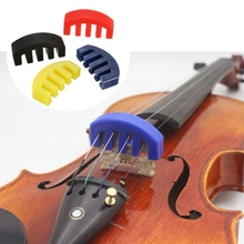 New 1pcs Rubber Practice Violin Mute Silencer Red/Black/Blue/Yellow Violin Mute For All 4/4 Acoustic Violin