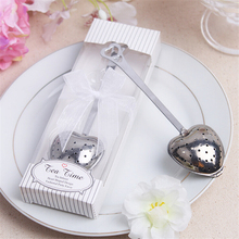 1Pcs Casamento Heart Shape Tea Infuser Wedding Favors And Gifts Wedding Event Party Supplies Souvenirs Wedding Gifts For Guests(China)