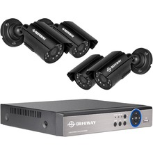 DEFEWAY HD 1080P HDMI 4ch CCTV System 4 channel DVR KIT 720P Video Recorder with 1200TVL Security Camera Home Surveillance(China)