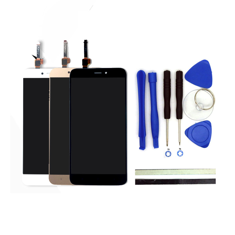 100% New Redmi 4X LCD Display + Digitizer Touch Screen Assembly Replacement For Xiaomi Redmi 4X Phone Parts And Free Tools
