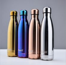 Swell metal plating mirror coke bottle keep-warm glass kettle series vacuum cup movement free shipping Made in china thermoses