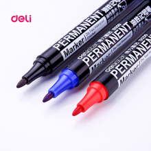 Deli 144 permanent durable round toe Instantly dry graffiti oil ink sharpie paint red black marker pens for tires fabric metal(China)
