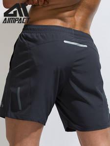 AIMPACT Shorts Men Trunks Workout-Training Swim Running-Bike Gym Sport AM2189 Reflective