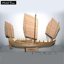 Wooden Ship Models Kits Boats Ship Model Kit Sailboat Educational Toy Model Kit Wood Scale 1/148 Chinese Antique Sailboat(China)