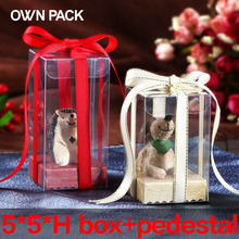 Direct Selling clear box 10pcs/lot 5*5*H and pedestal/gifts box  wedding gifts for guests/ plastic container/ macarons package