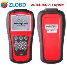 2017 Original Autel MD701 scanner DHL Free Shipping Autel Maxidiag Elite MD701 Scanner 4 System MD 701 Code Reader with DS Model