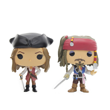 Chanycore Anime Funko Pop Pirates of the Caribbean Captain Jack Sparrow Elizabeth Swann Collectible Vinyl Figure Model toys